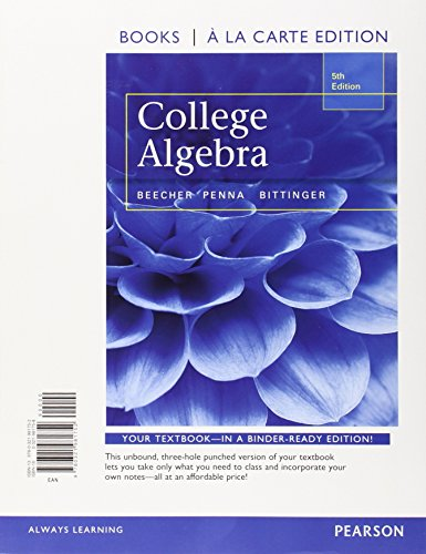 9780321970022: College Algebra with Integrated Review, Books a la Carte Edition plus MML Student Access Card and Worksheets (5th Edition)