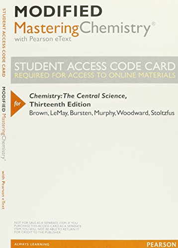New MasteringChemistry with Pearson eText - Valuepack: Brown, Theodore E.,