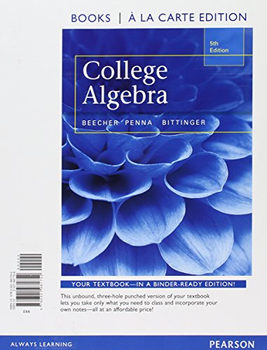 9780321973443: College Algebra, Books a la Carte Edition plus MyMathLab with Pearson eText, Access Card Package (5th Edition)