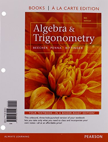 9780321973450: Algebra and Trigonometry, Books a la Carte Edition plus MyMathLab with Pearson eText, Access Card Package (5th Edition)