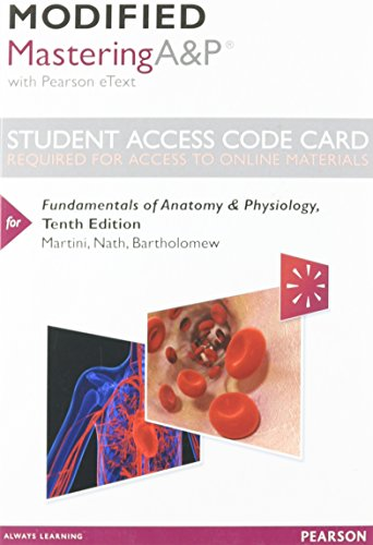 9780321973566: Modified MasteringA&P with Pearson eText -- Standalone Access Card -- for Fundamentals of Anatomy & Physiology (10th Edition)