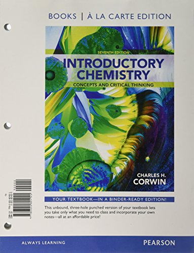 9780321973603: Introductory Chemistry: Concepts and Critical Thinking, Books a la Carte Edition and Modified MasteringChemistry with Pearson eText with Access Card (7th Edition)