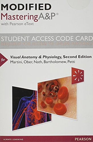 9780321974013: Modified MasteringA&P with Pearson eText -- Standalone Access Card -- for Visual Anatomy & Physiology (2nd Edition)