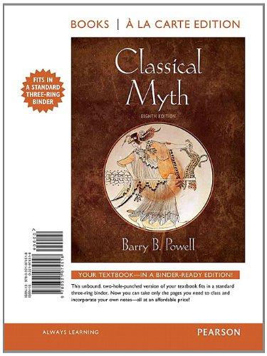 9780321974518: Classical Myth, Books a la Carte Edition (8th Edition)