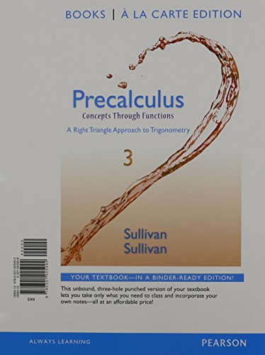 9780321975720: Precalculus: Concepts Through Functions, A Right Triangle Approach to Trigonometry, Books a la Carte Edition Plus NEW MyMathLab -- Access Card Package (3rd Edition)