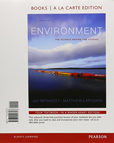 9780321976383: Environment: The Science behind the Stories, Books a la Carte Edition & Modified MasteringEnvironmentalScience with Pearson eText -- ValuePack Access ... The Science behind the Stories Package