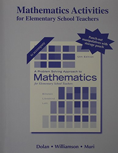 9780321977083: Activities Manual for A Problem Solving Approach to Mathematics for Elementary School Teachers