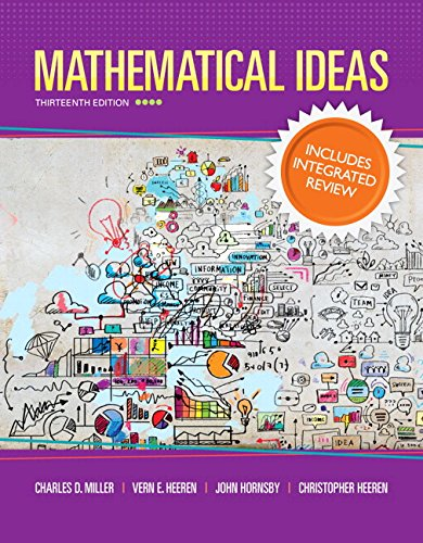 9780321977274: Mathematical Ideas with Integrated Review and Worksheets plus NEW MyMathLab with Pearson eText -- Access Card Package (Integrated Review Courses in MyMathLab and MyStatLab)