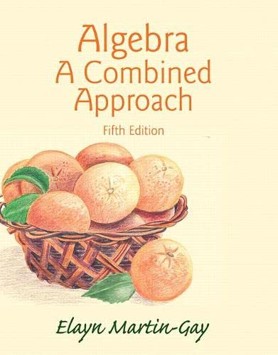 9780321977533: Algebra: A Combined Approach (5th Edition)