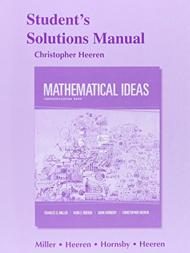 9780321977922: Student's Solutions Manual for Mathematical Ideas
