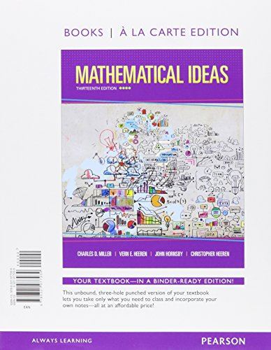 9780321977939: Mathematical Ideas, Books a la Carte Edition