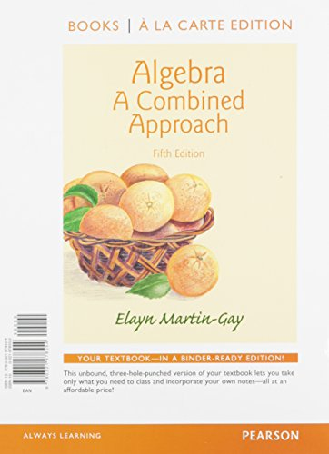9780321978059: Algebra: A Combined Approach Books a la Carte Edition Plus NEW MyMathLab with Pearson eText -- Access Card Package (5th Edition)