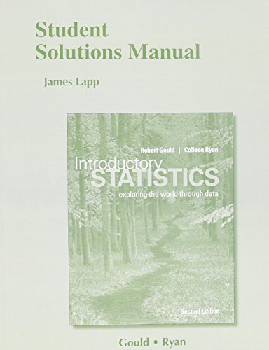 9780321978394: Student Solutions Manual for Introductory Statistics: Exploring the World through Data