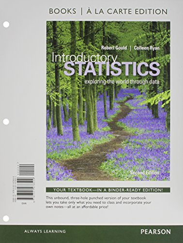 9780321978509: Introductory Statistics: Exploring the World through Data, Books a la Carte Edition (2nd Edition)