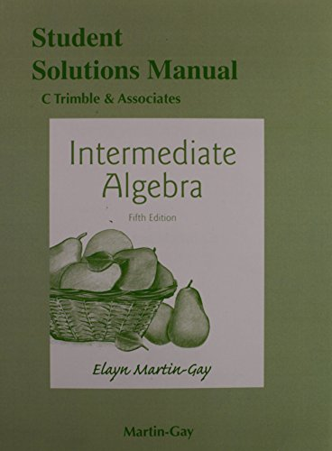 9780321978752: Student's Solutions Manual for Intermediate Algebra