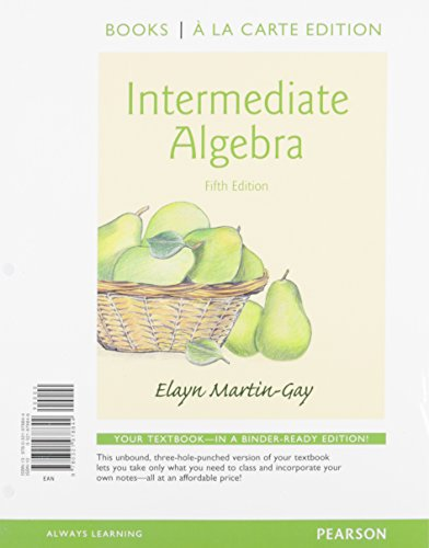 9780321978806: Intermediate Algebra a la Carte Edition Plus NEW MyMathLab with Pearson eText -- Access Card Package (5th Edition)