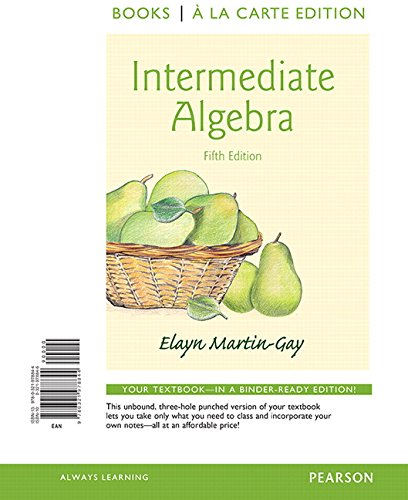 9780321978844: Intermediate Algebra, Books a la Carte Edition (5th Edition)