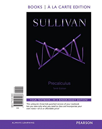 9780321979087: Precalculus, Books a la Carte Edition