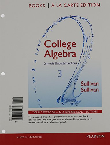 9780321979179: College Algebra: Concepts Through Functions, Books a la Carte Edition Plus NEW MyMathLab -- Access Card Package (3rd Edition)