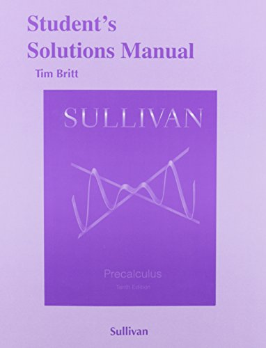 9780321979285: Student's Solutions Manual (Valuepack) for Precalculus