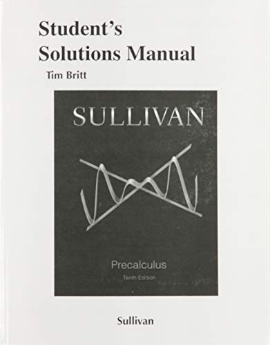 9780321979322: Student's Solutions Manual for Precalculus