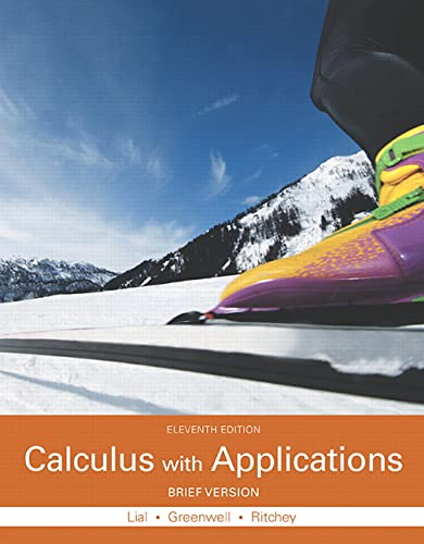 Calculus with Applications, Brief Version: Lial