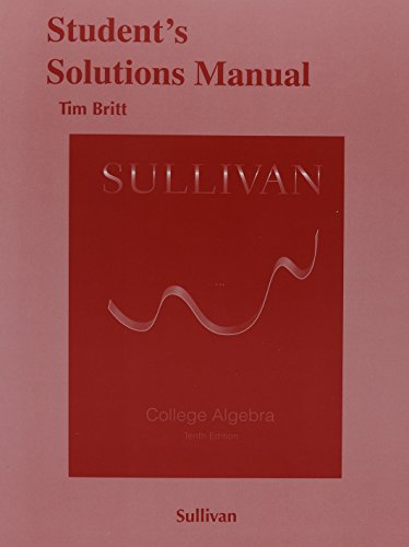 9780321979582: Student's Solutions Manual for College Algebra