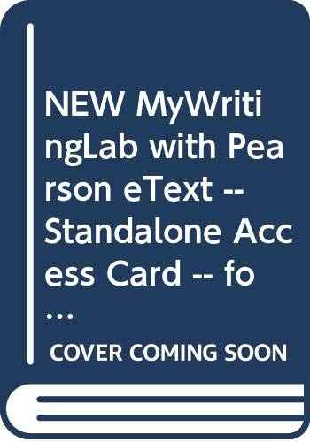 9780321979803: NEW MyWritingLab with Pearson eText -- Standalone Access Card -- for Student's Book of College English (14th Edition)