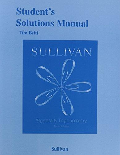 9780321980502: Student's Solutions Manual (Valuepak) for Algebra and Trigonometry