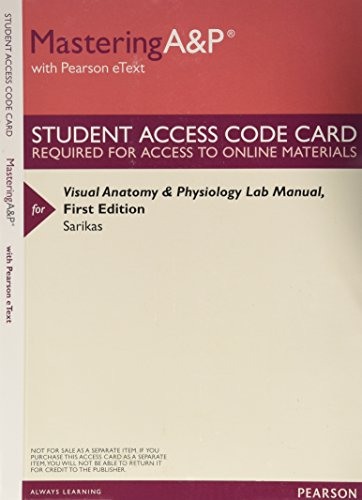 Visual Anatomy Physiology Lab Manual by Stephen Sarikas - AbeBooks