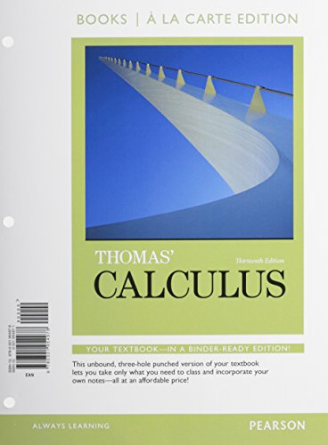 9780321981684: Thomas' Calculus, Books a la Carte Plus MyMathLab Student Access Kit (13th Edition)