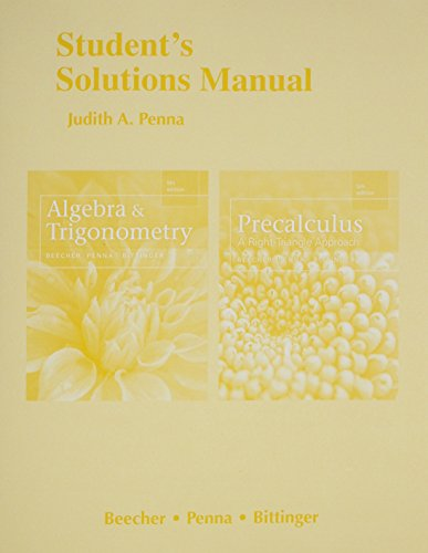 9780321981899: Student's Solutions Manual for Algebra and Trigonometry and Precalculus: A Right Triangle Approach