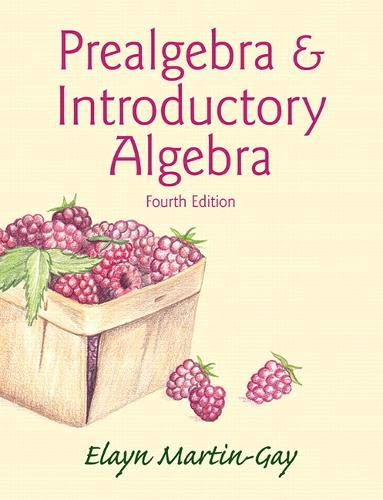 9780321981936: Prealgebra & Introductory Algebra (Hardcover) (4th Edition)
