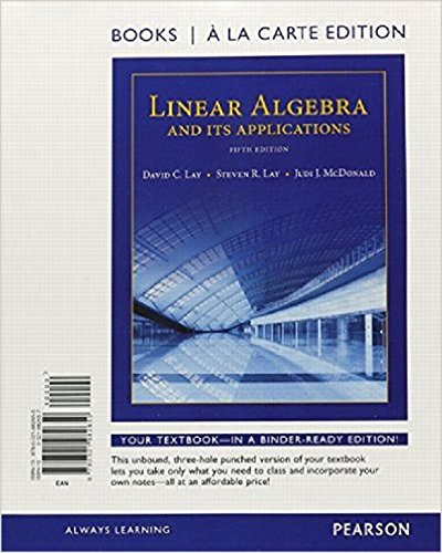 Linear Algebra and Its Applications, Books a: Lay, David C.,