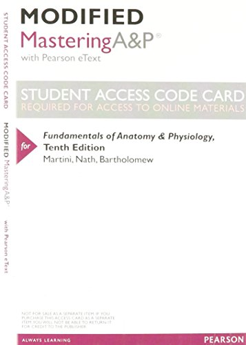 9780321982810: Modified MasteringA&P with Pearson eText -- ValuePack Access Card -- for Fundamentals of Anatomy & Physiology