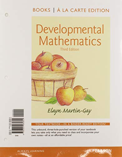 9780321983015: Developmental Mathematics Books a la Carte Edition Plus NEW MyLab Math with Pearson eText -- Access Card Package (3rd Edition)