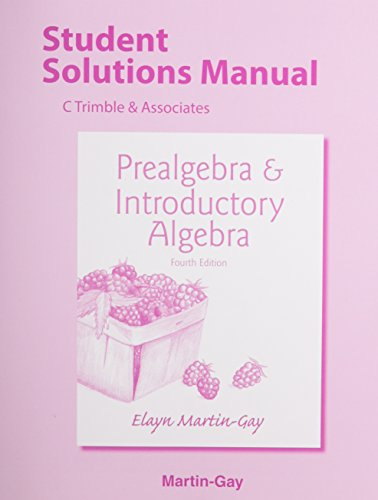 9780321983466: Student's Solutions Manual for Prealgebra & Introductory Algebra