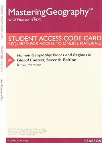9780321984708: MasteringGeography with Pearson eText - Valuepack Access Card - For Human Geography: Places and Regions in Global Context