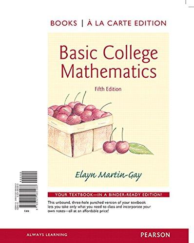 9780321985583: Basic College Mathematics, Books a la Carte Edition (5th Edition)