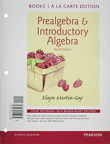 9780321985682: Prealgebra & Introductory Algebra Books a la Carte Edition Plus NEW MyMathLab with Pearson eText -- Access Card Package (4th Edition)