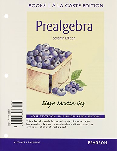 9780321985798: Prealgebra Books a la Carte Edition Plus NEW MyMathLab with Pearson eText -- Access Card Package (7th Edition)