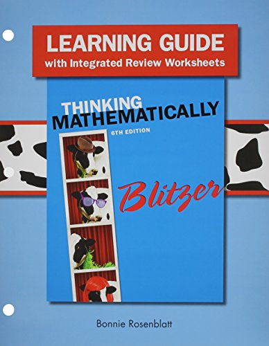 9780321986412: Learning Guide plus MML Student Access Card for Thinking Mathematically with Integrated Review (2nd Edition)