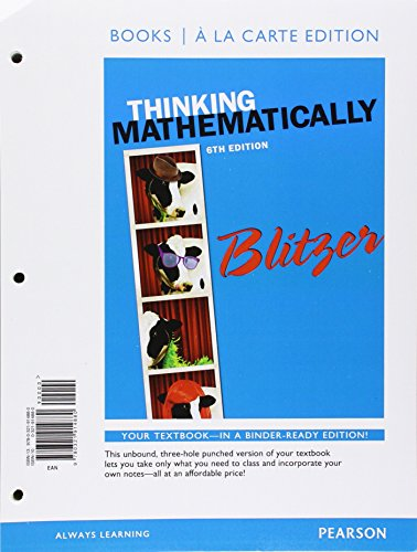 Thinking Mathematically with Integrated Review, Books a: Blitzer, Robert F