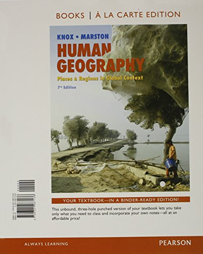 9780321987600: Human Geography: Places and Regions in Global Context, Books a la Carte Plus MasteringGeography with eText -- Access Card Package (7th Edition)