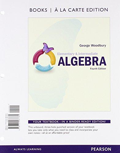 9780321987785: Elementary & Intermediate Algebra, Books a la Carte Edition (4th Edition)