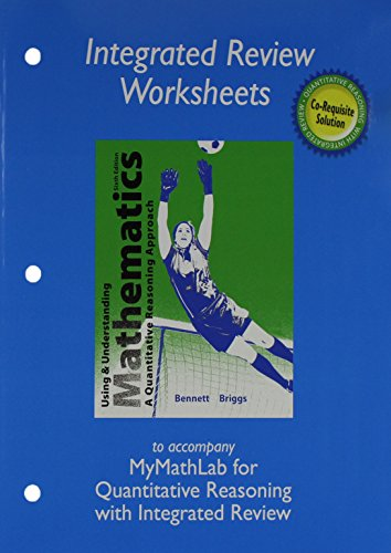 9780321987983: Worksheets plus MML Student Access Card for Using and Understanding Mathematics with Integrated Review