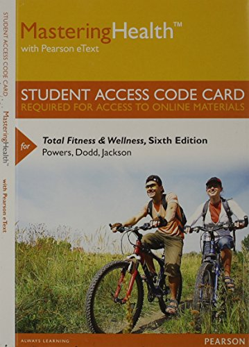 9780321988218: MasteringHealth with Pearson eText -- Standalone Access Card -- for Total Fitness & Wellness (6th Edition)