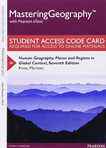 9780321988966: MasteringGeography with Pearson eText -- Standalone Access Card -- for Human Geography: Places and Regions in Global Context (7th Edition)