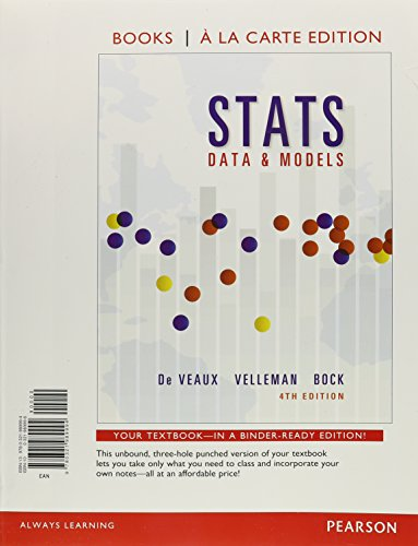9780321989994: Stats: Data and Models, Books a la Carte Edition (4th Edition)