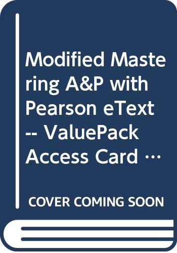 9780321991225: Modified MasteringA&P with Pearson eText -- ValuePack Access Card -- for Human Anatomy
